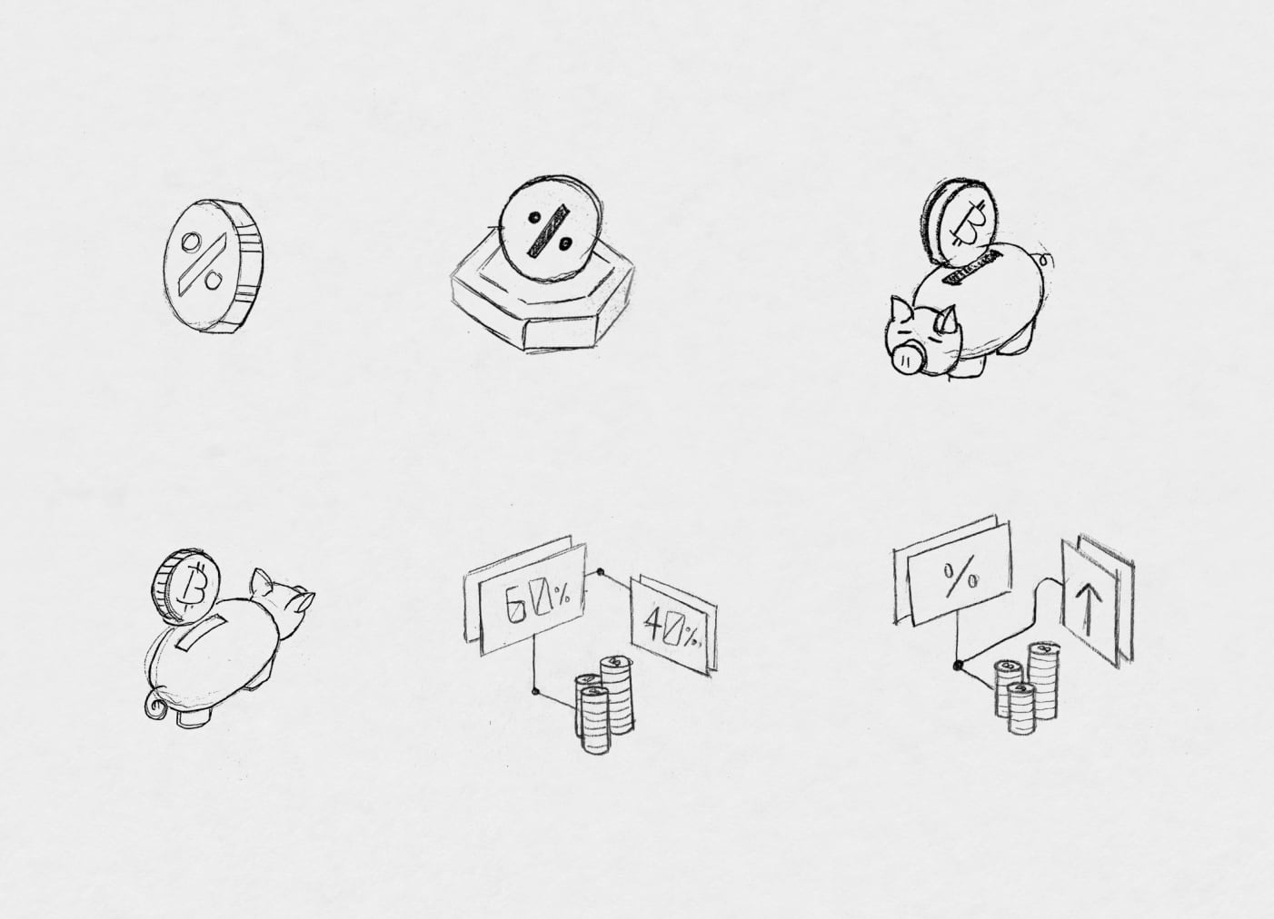 Bitnomial cryptocurrency sketches